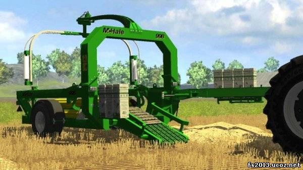 Farming simulator 2013 mchale 998 тюкопресс